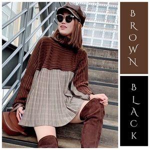 Tops - 🆕 Fabulous Pleated Flowing Turtleneck Sweater Top